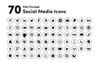 "Icon-Sammlungen Vorlage namens ""Black Circled Social Media"" Großer Screenshot"