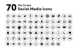 "Icon-Sammlungen Vorlage namens ""Black Circled Social Media"""