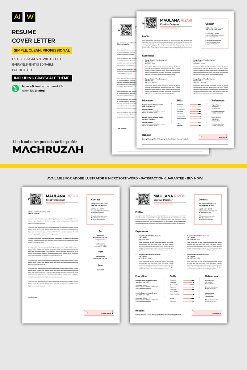 Simple easy resume template 71017 altavistaventures Image collections