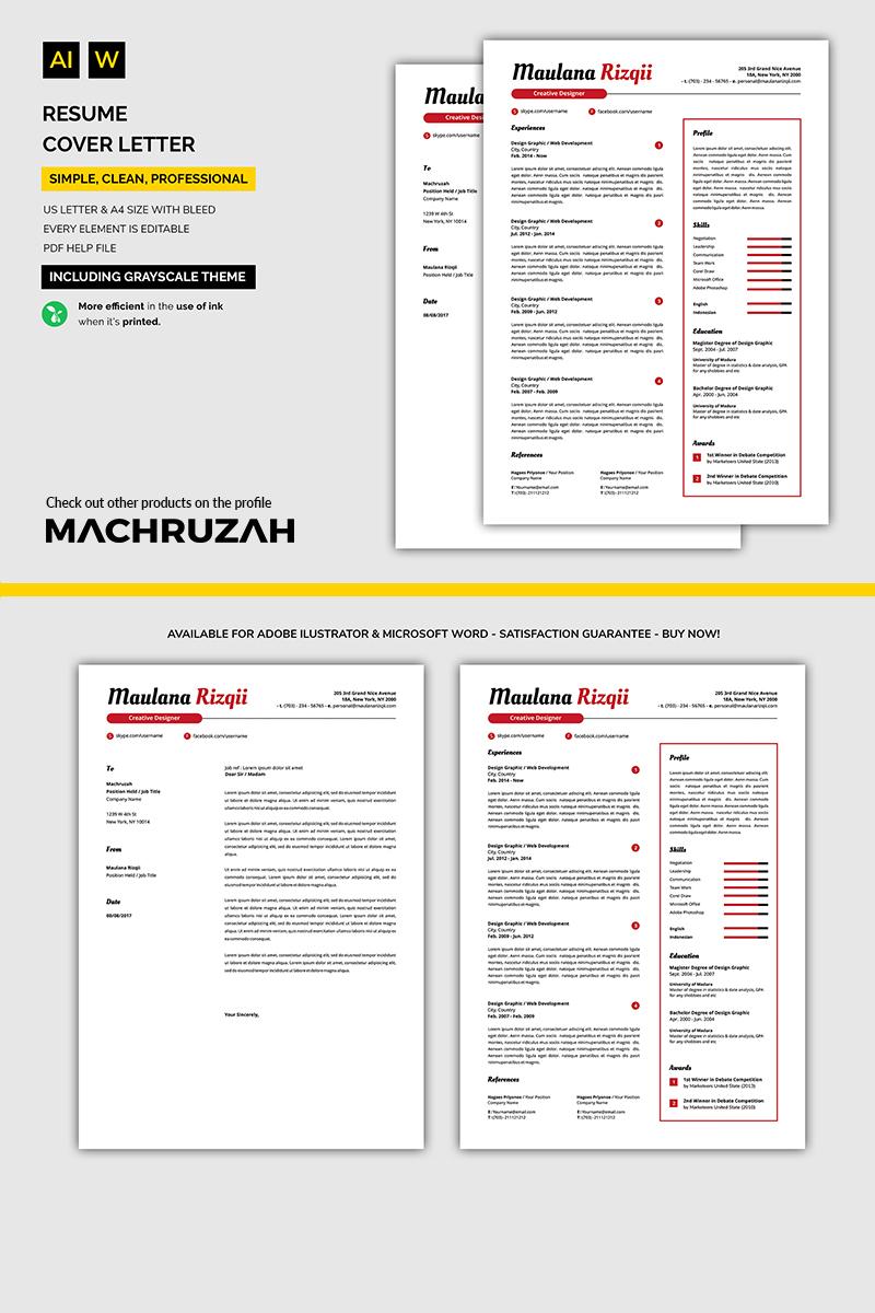 Super Clean Resume Template 71095