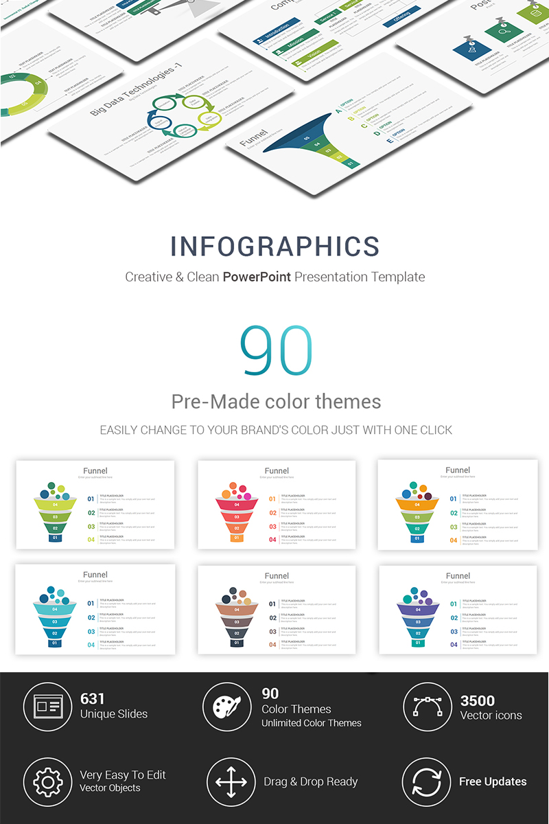 Infographic Powerpoint Template 69420 Star Chart Diagram Ppt