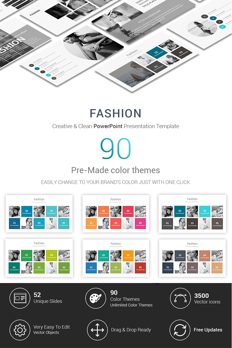 Fashion Presentations PowerPoint Template #70288