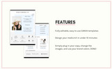 CANVA Bloggers Media Kit Elementos UI №76010