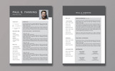 Szablon resume Five Style Two Page Bundle #79901