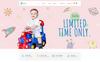 """""""Bonbon - Baby & Kids Store"""" thème WooCommerce adaptatif Grande capture d'écran"""