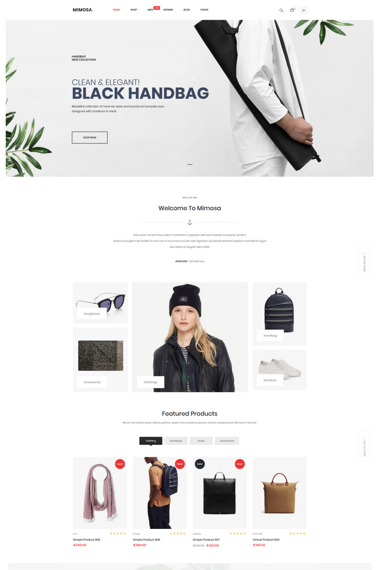 Mimosa - Fashion WooCommerce WordPress Theme WooCommerce Theme