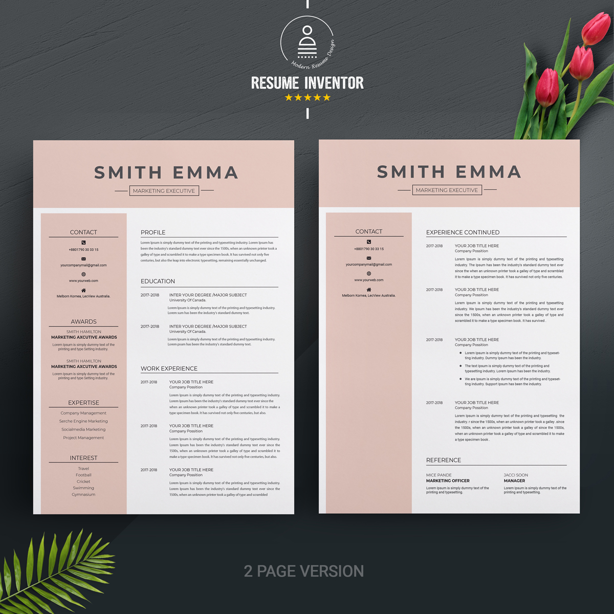 smith emma resume template  71441