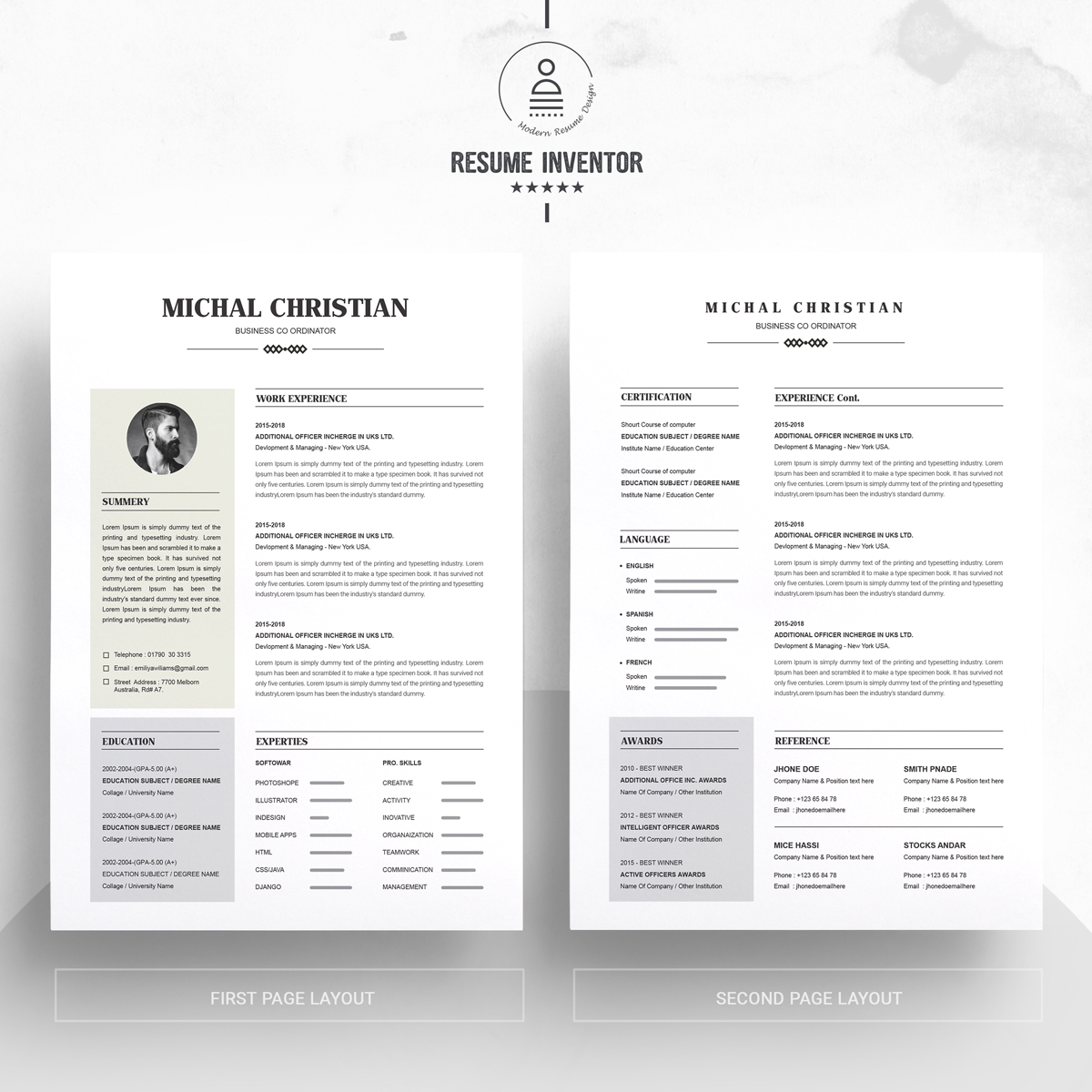 michael christian resume template  71451