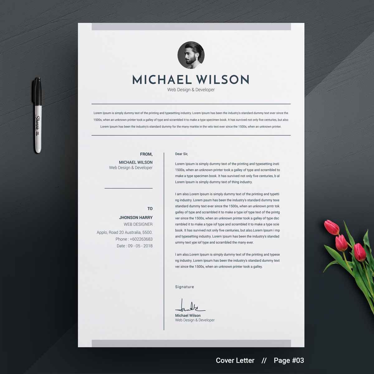 michael wilson resume template  73886