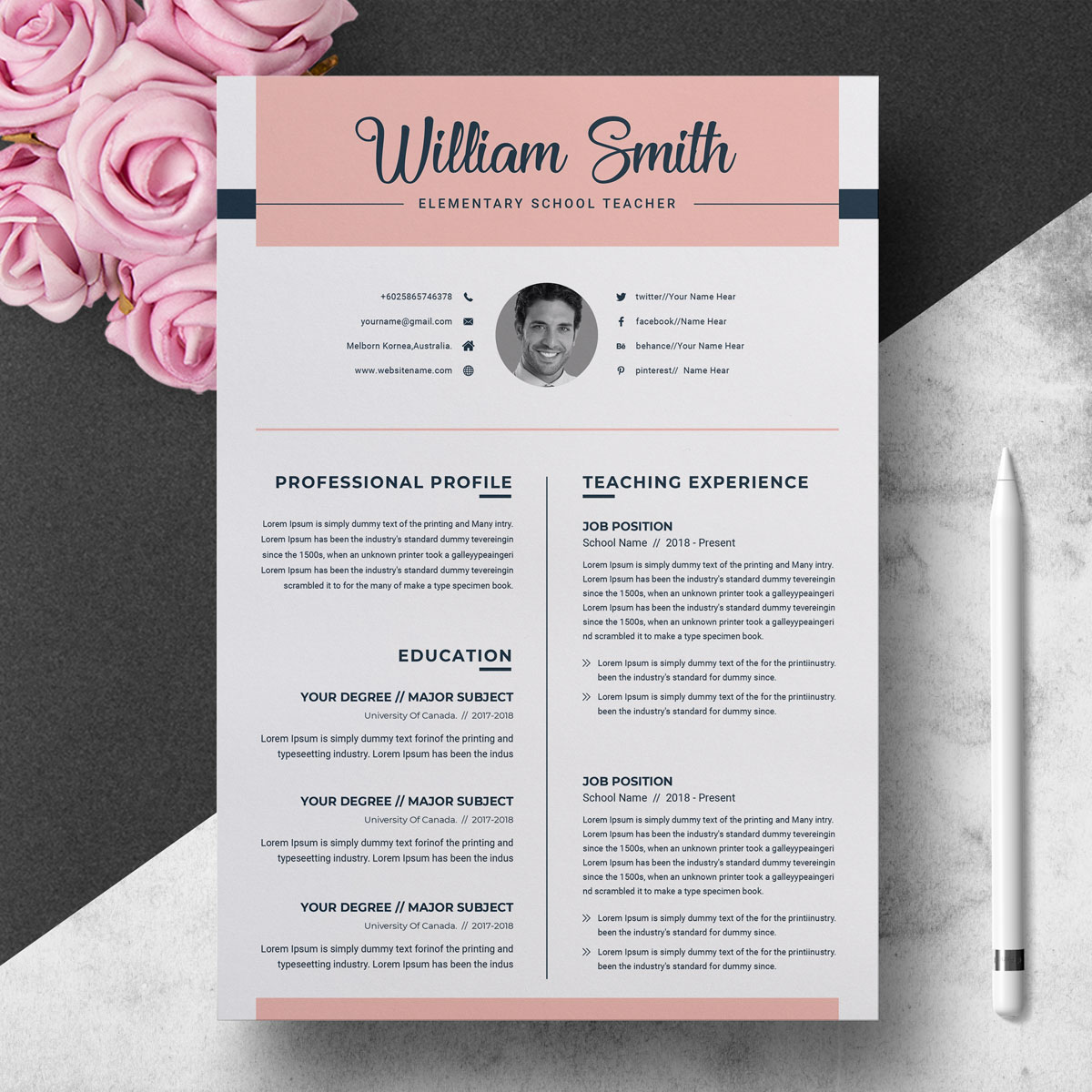 william smith resume template  73914