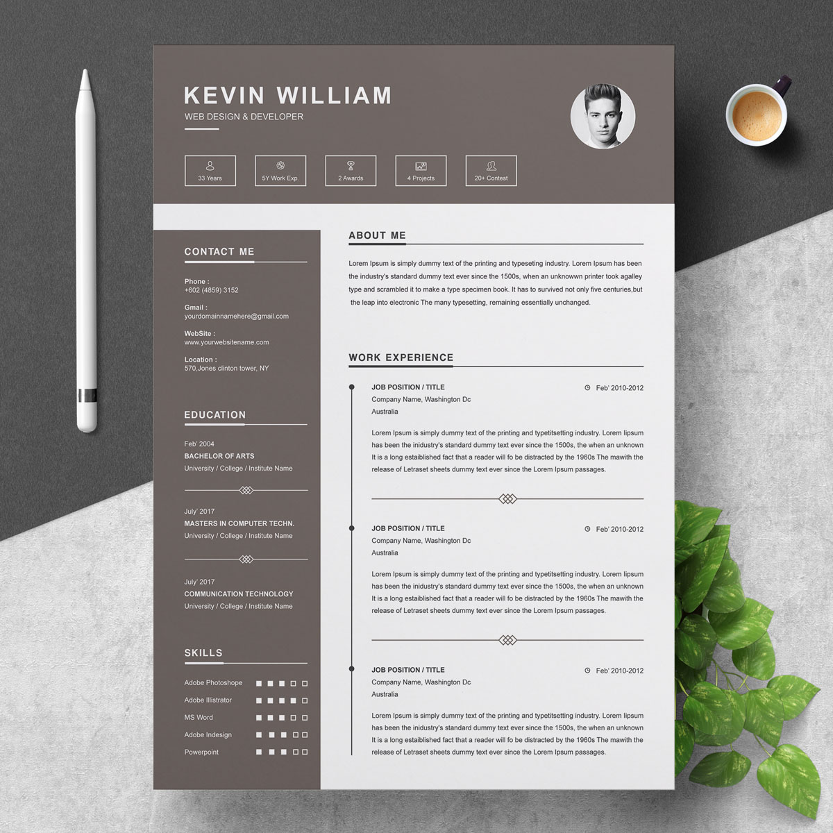 kevin william resume template  74169