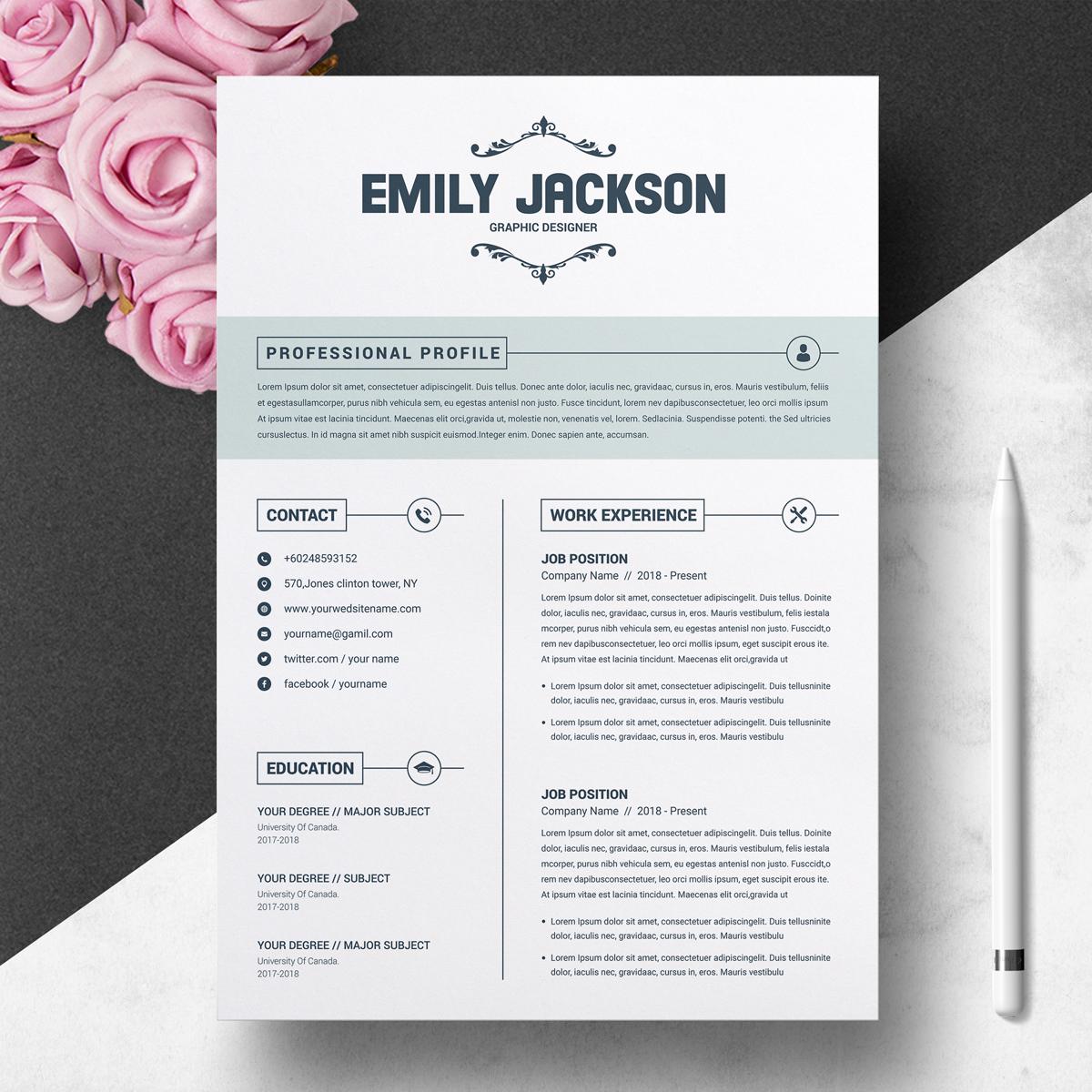 emily jackson resume template  74376