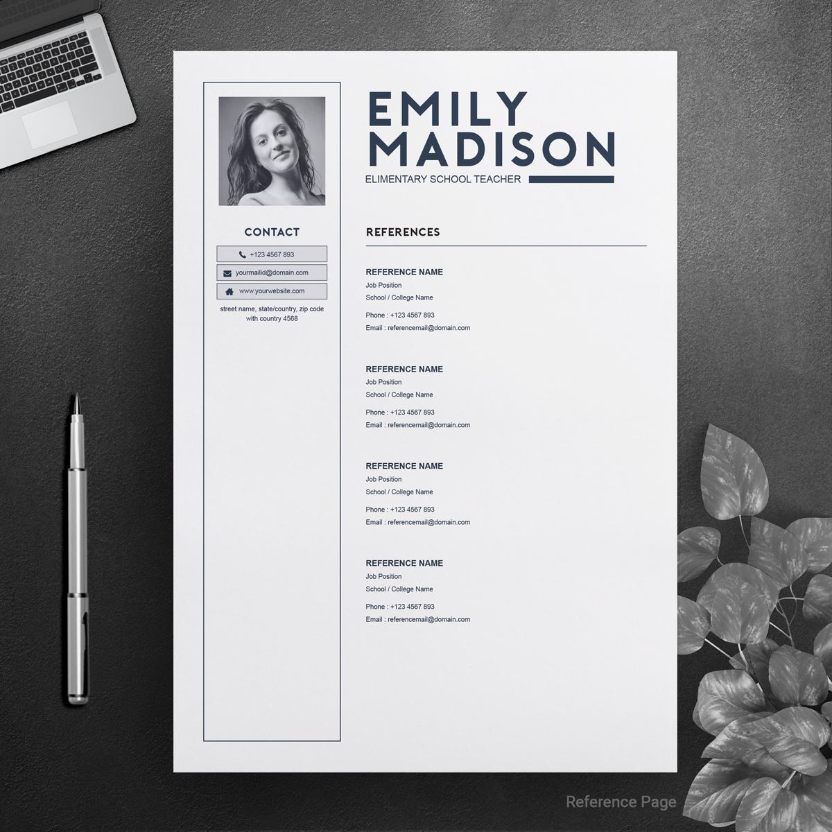 emily madison resume template  74367