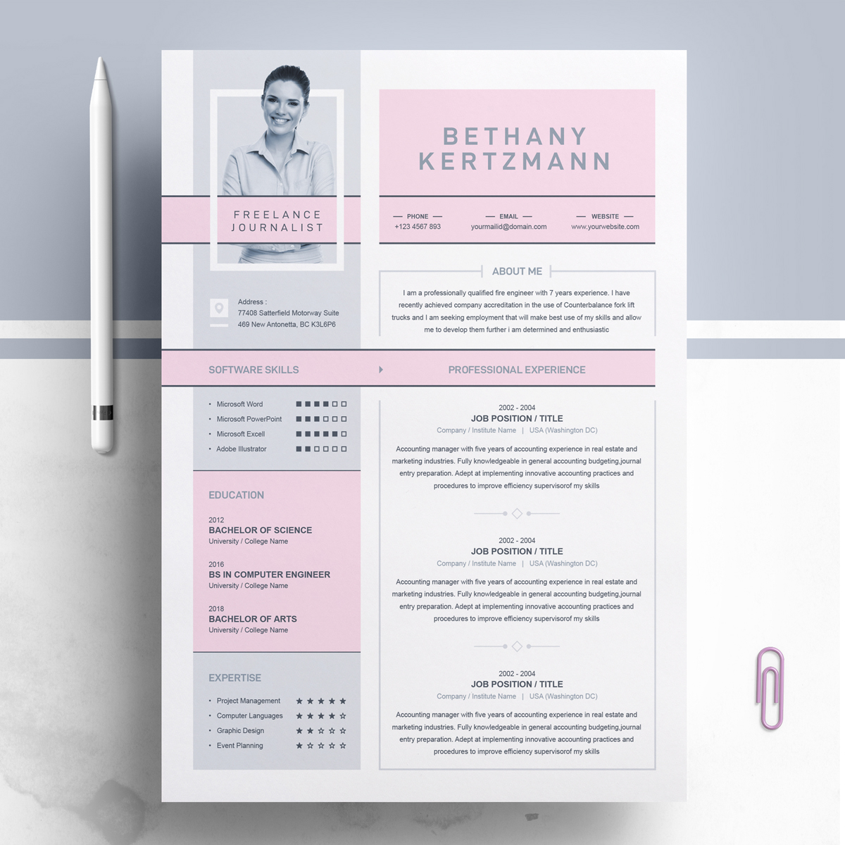 journalist resume template  74563