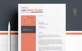 """Luxusní Šablona pro životopis """"Rene Tromp"""""""