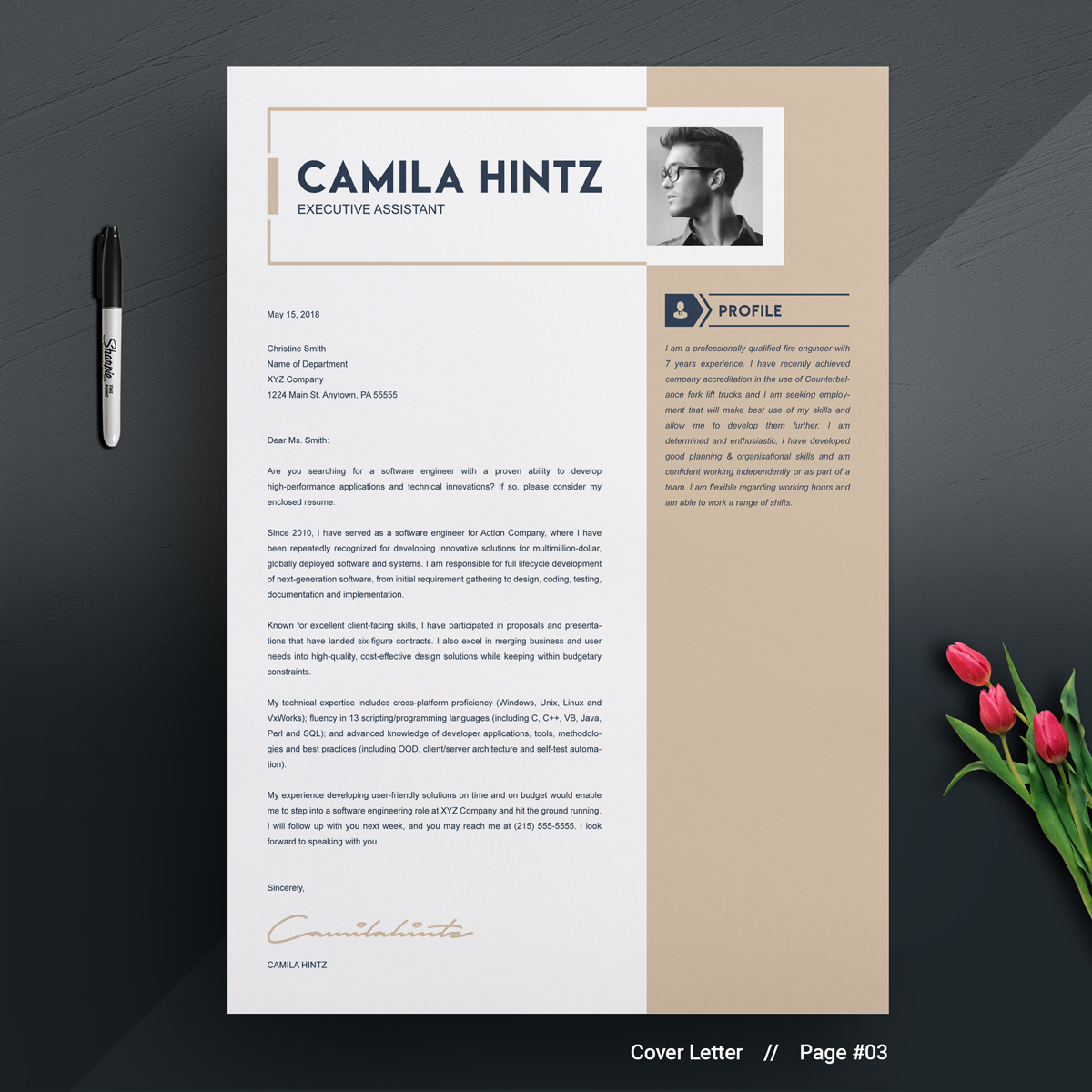 Camila Hintz Resume Template