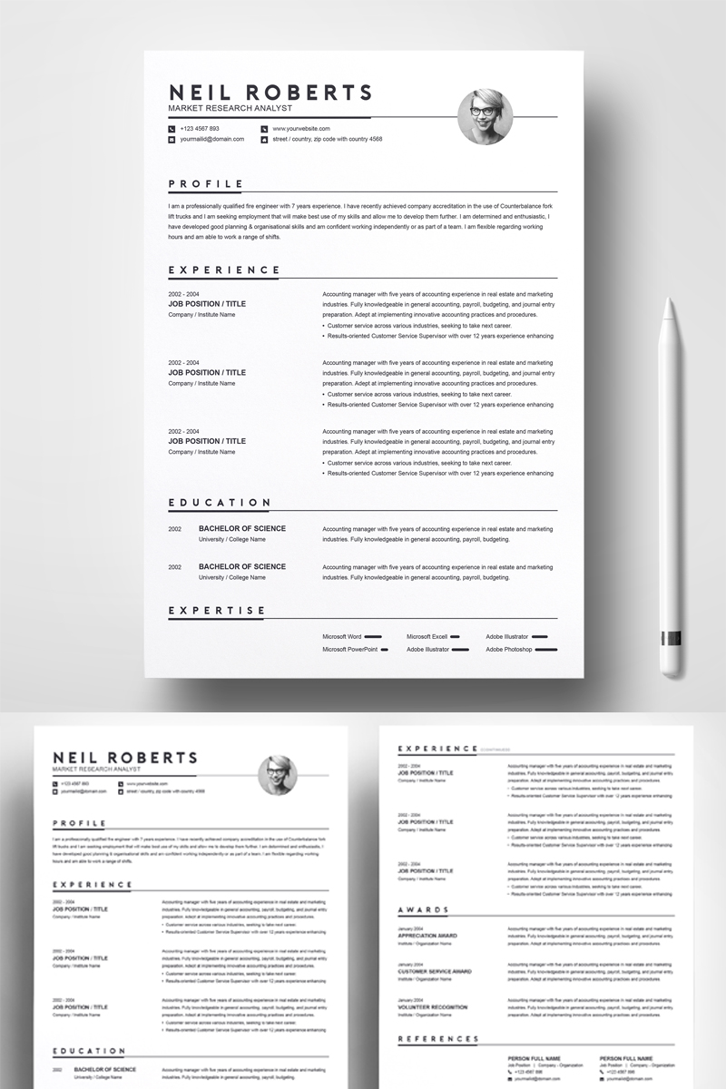 Neil Roberts Resume Template 76457