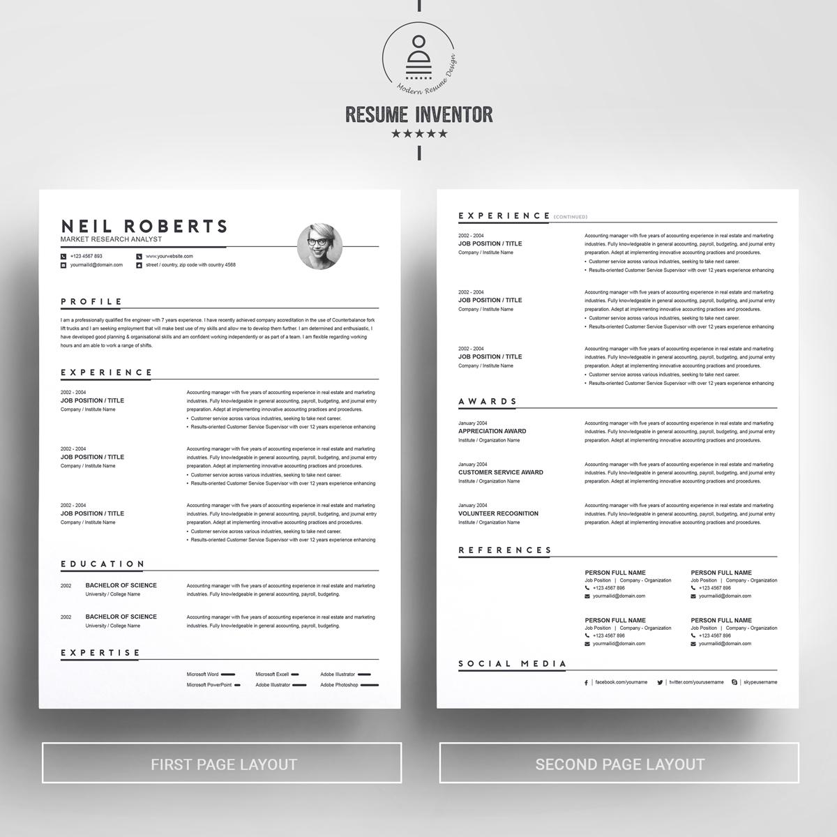 https://s3u.tmimgcdn.com/1860567-1546500798288_02_2-Pages-Free-Resume-Design-Template.jpg