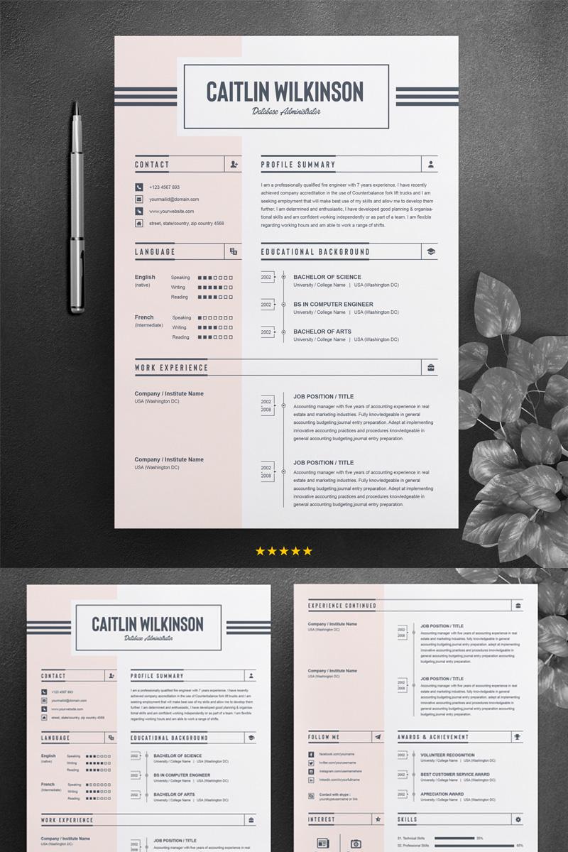 caitlion wilkinson resume template  76742