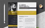 Szablon resume Gariel Masarena #76948