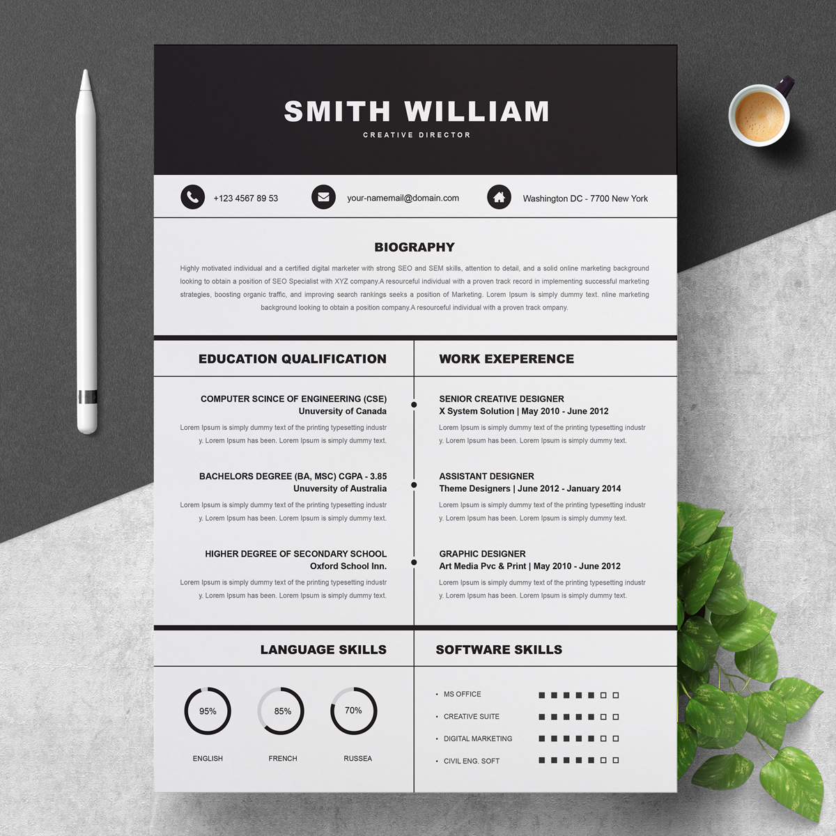 smith williams resume template  78492