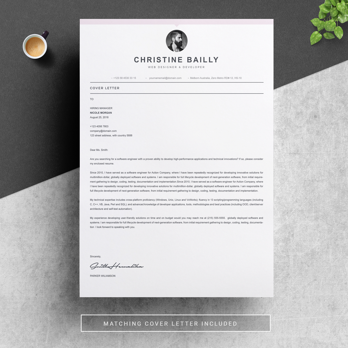 christine bailly resume template  78493
