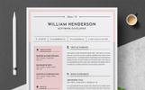 "Lebenslauf-Vorlage namens ""William"""