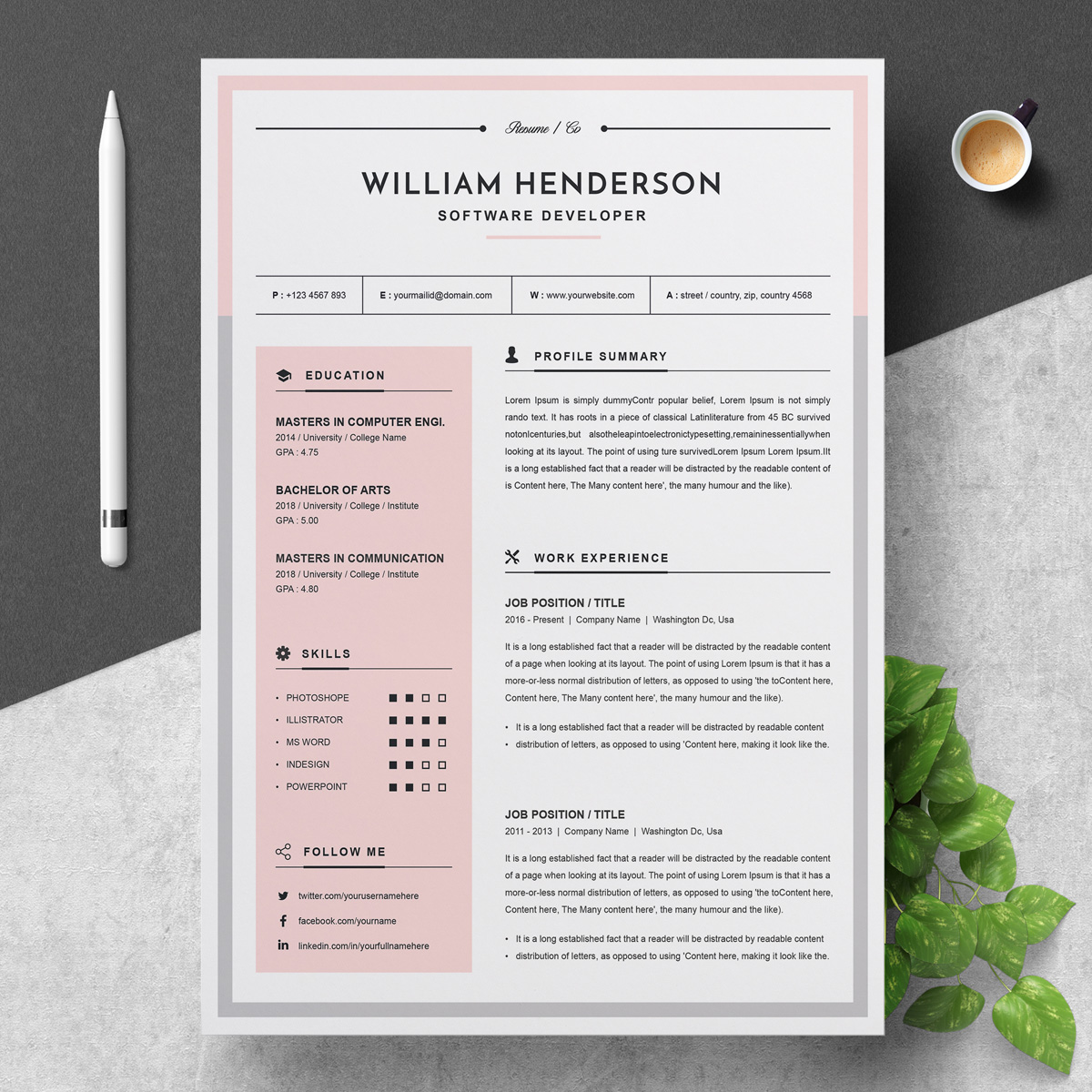 william resume template  79019