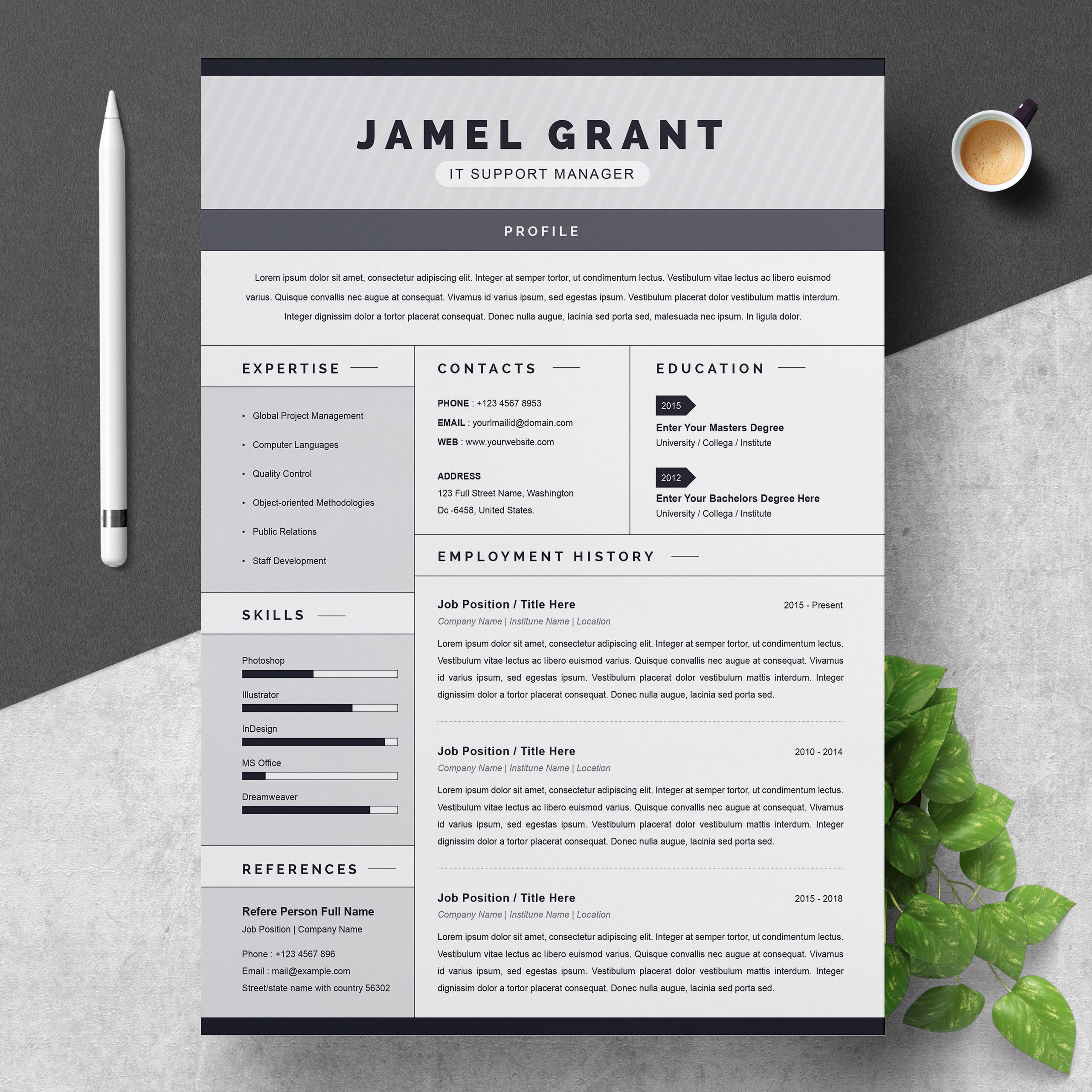 Jamel Resume Template 79227