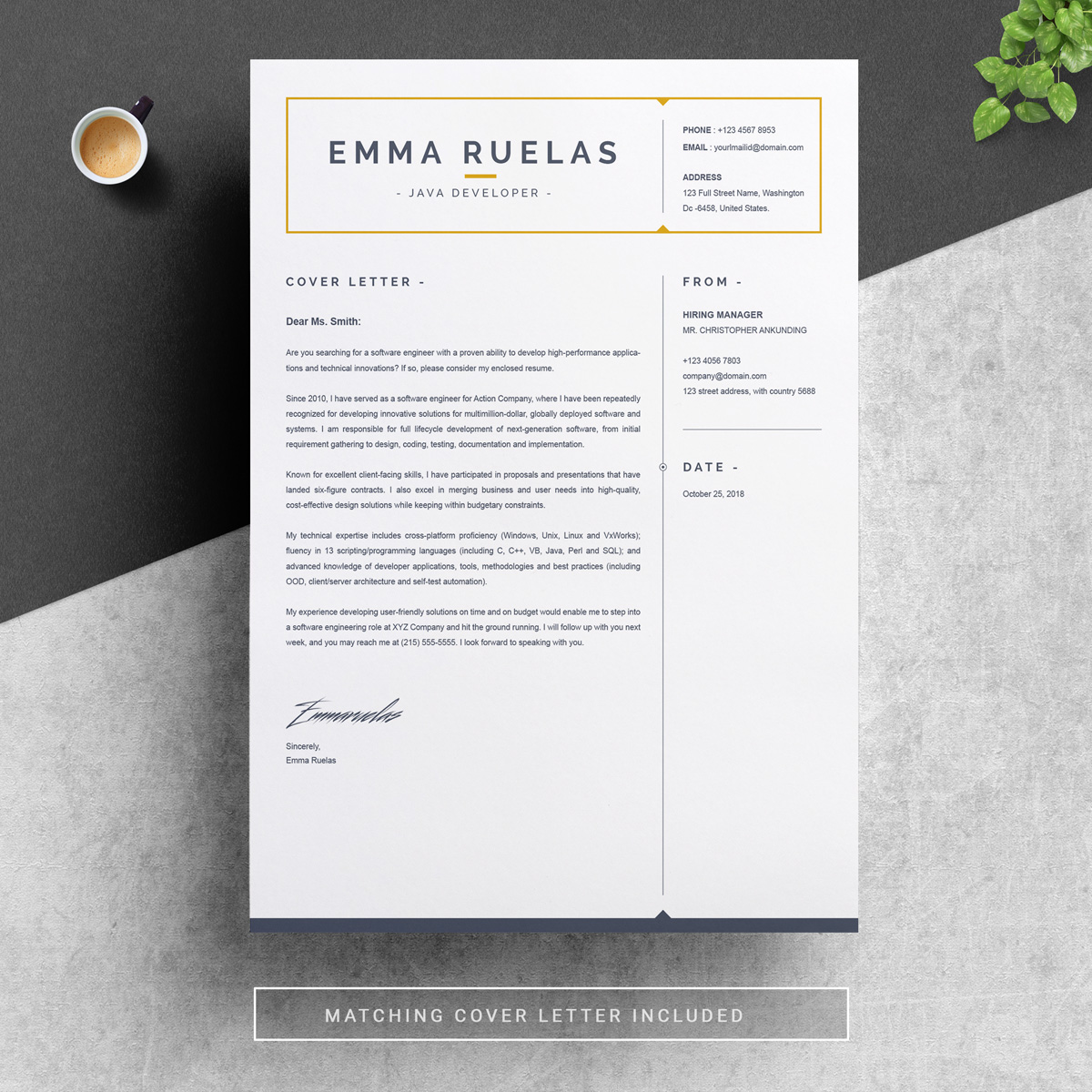 emma resume template  79173