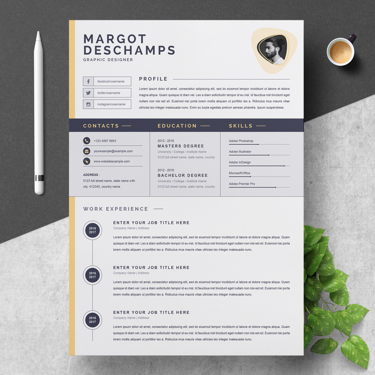 margot resume template  79301