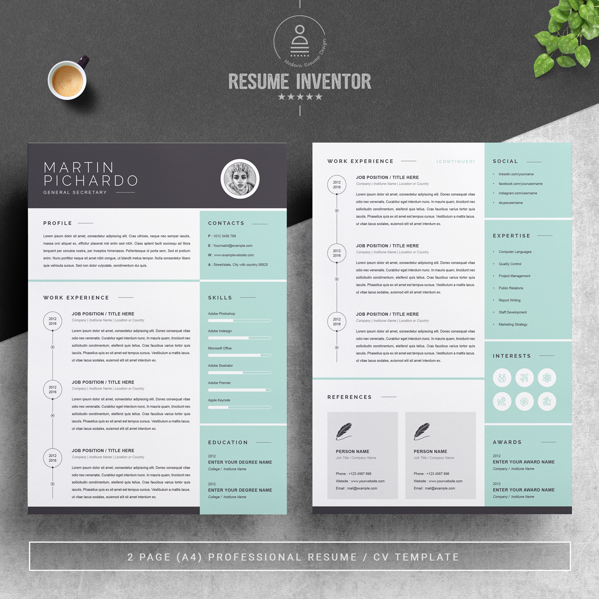 https://s3u.tmimgcdn.com/1860567-1558600379533_02_2-Pages-Free-Resume-Design-Template.jpg