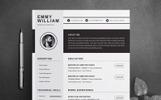 "Lebenslauf-Vorlage namens ""Emmy William"""
