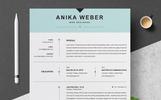 """Lebenslauf-Vorlage namens """"Anika"""""""
