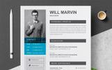 """""""Marvin"""" Premium CV Template"""