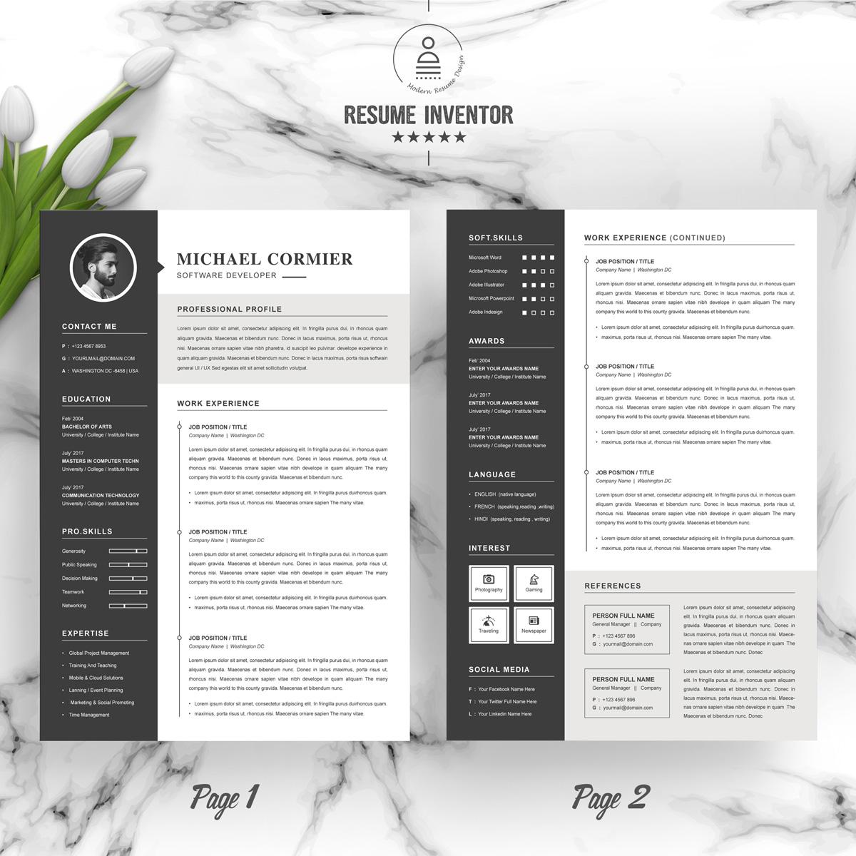 https://s3u.tmimgcdn.com/1860567-1561008937306_02_2-Pages-Free-Resume-Design-Template.jpg