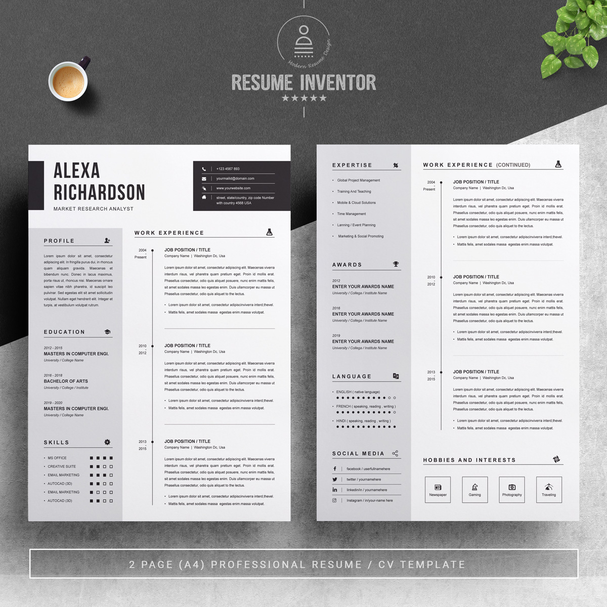 https://s3u.tmimgcdn.com/1860567-1561183259430_02_2-Pages-Free-Resume-Design-Template.jpg