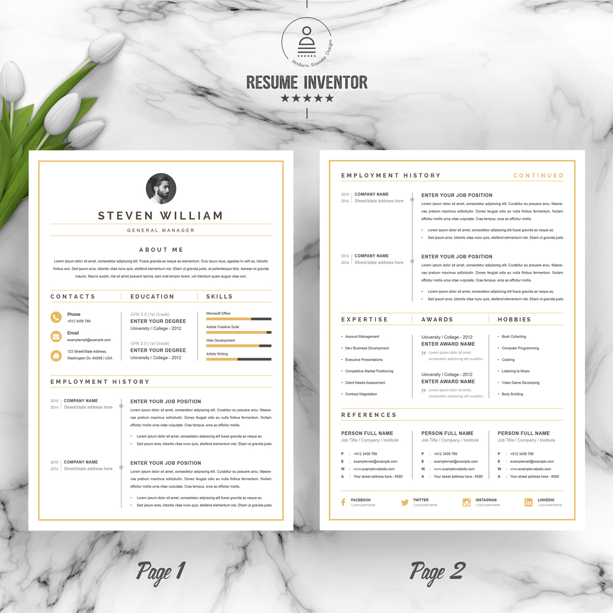 https://s3u.tmimgcdn.com/1860567-1580627614207_02_2-Pages-Free-Resume-Design-Template.jpg