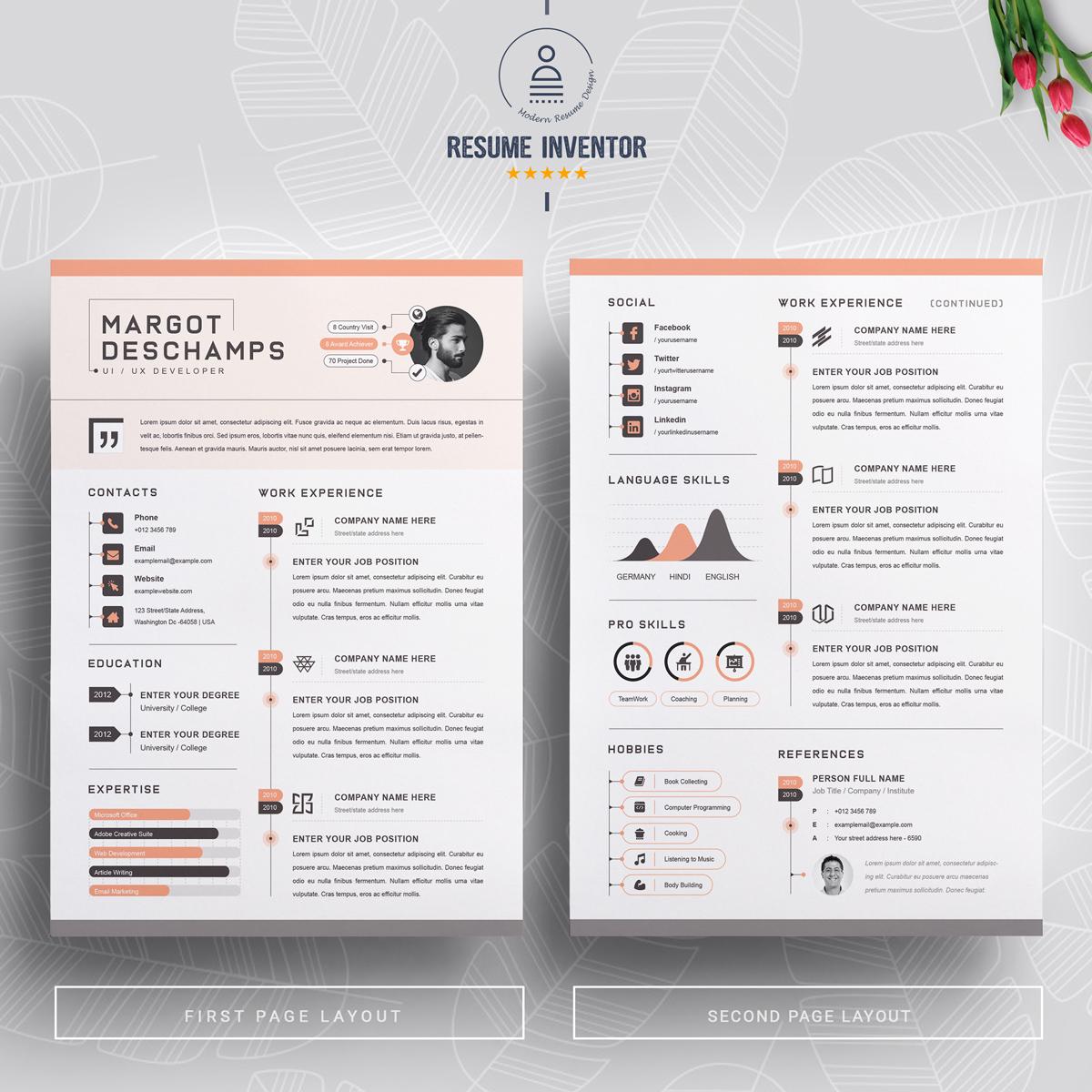 https://s3u.tmimgcdn.com/1860567-1580631056670_02_2-Pages-Free-Resume-Design-Template.jpg