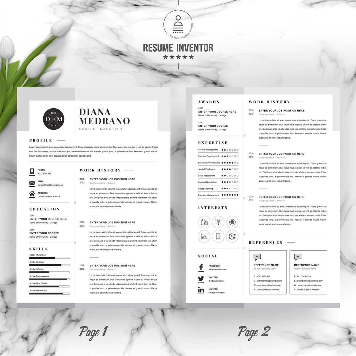 diana resume template  96795
