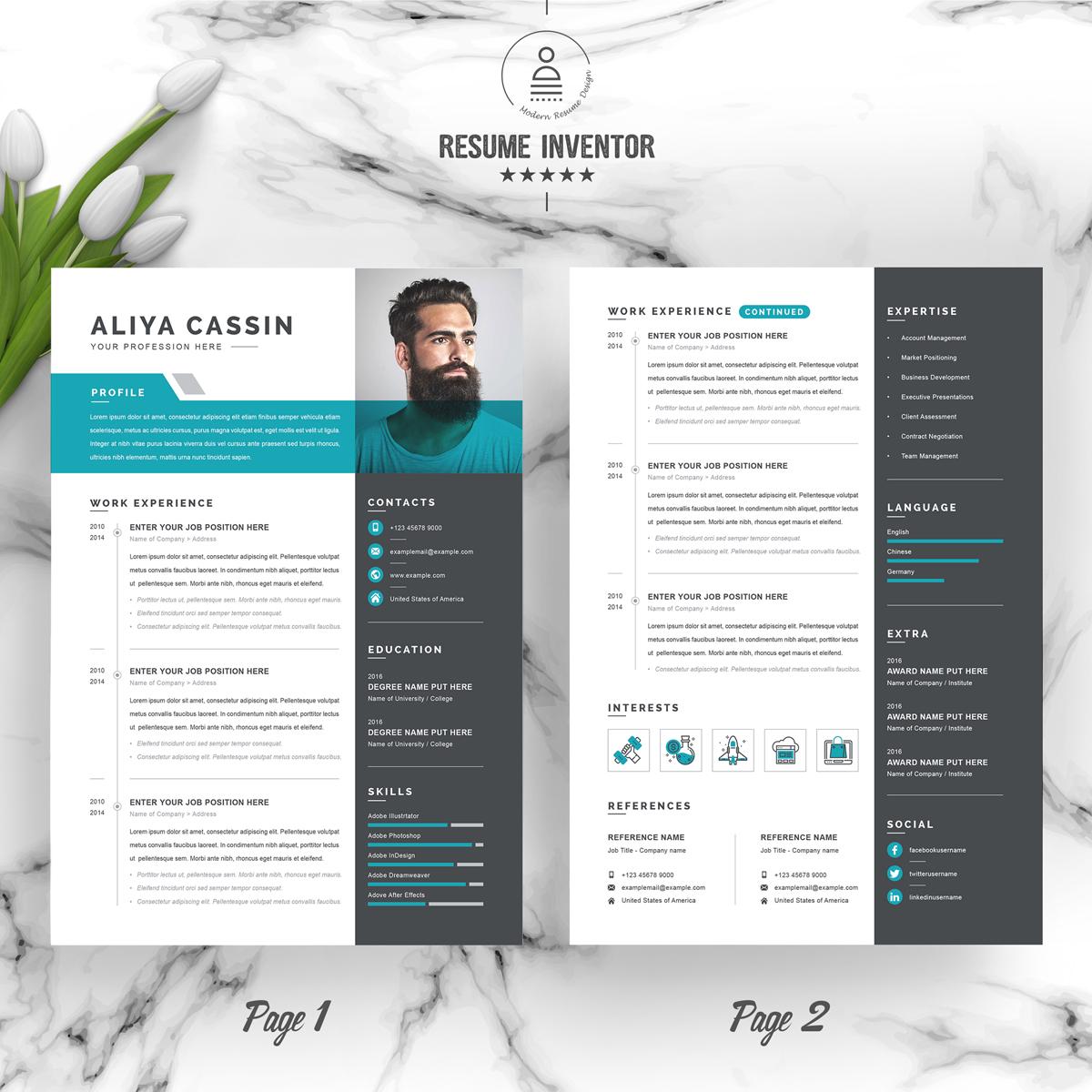 https://s3u.tmimgcdn.com/1860567-1583588749617_02_2-Pages-Free-Resume-Design-Template.jpg