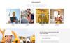 Revo Construction Multi - Page Web Template Photoshop  №71567 Screenshot Grade