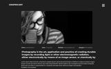 """Responzivní PSD šablona """"GraphicArt - Unique Portfolio"""""""