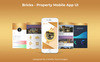 Bricks Mobile App UI PSD Template Big Screenshot