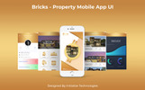 Bricks Mobile App UI PSD Template