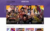 Plantilla PSD para Sitio de Anime/Manga