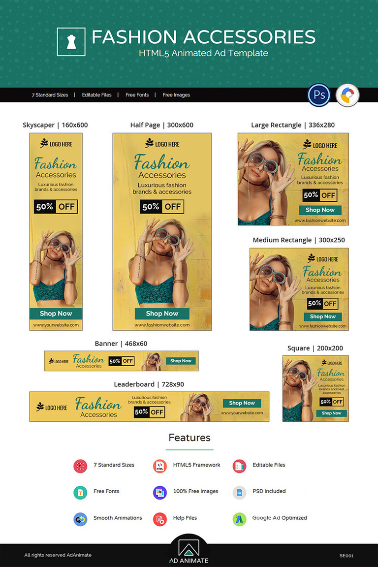 Shopping E Commerce Fashion Accessories Animated Banner 71247