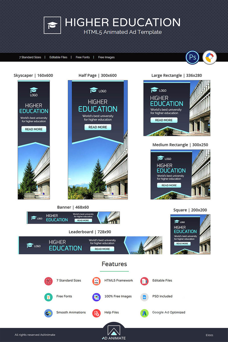 Education Institute Higher Education Animated Banner 71261