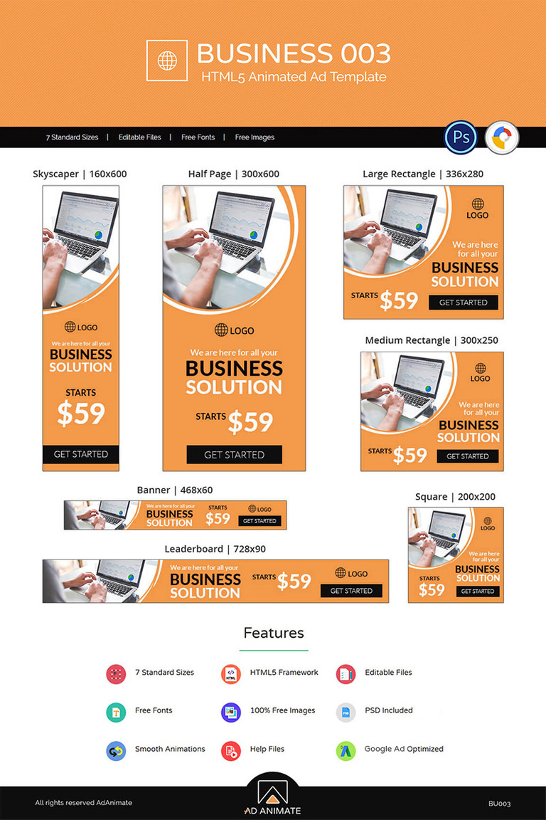Business 003 Html5 Ad Animated Banner New Screenshots