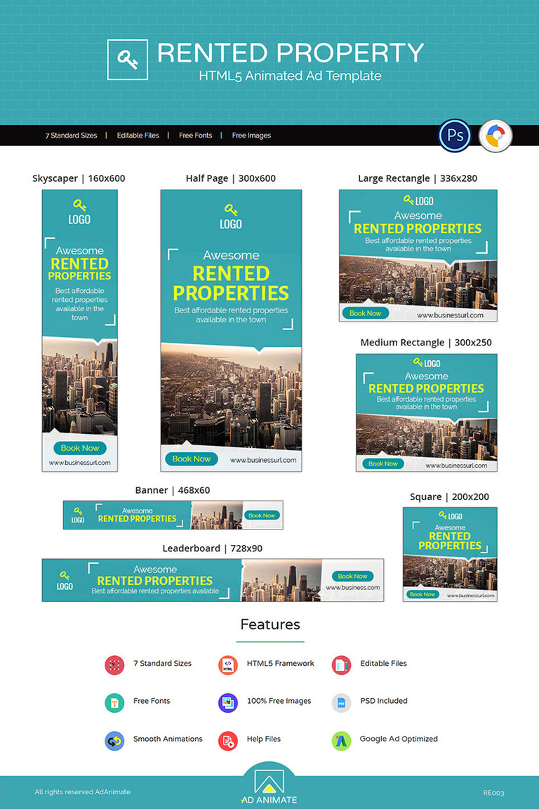 Real Estate | Rented Property Ad Animated Banner #73485